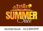 summer sale banner design... | Shutterstock .eps vector #611384399