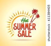 summer sale banner design... | Shutterstock .eps vector #611384405
