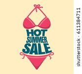 summer sale banner design... | Shutterstock .eps vector #611384711