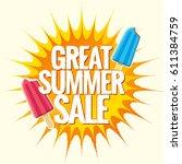 summer sale banner design... | Shutterstock .eps vector #611384759