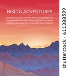 mountaineering and travelling ... | Shutterstock .eps vector #611388599