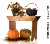 A Pot Of Fall Flowers  A Tiny...