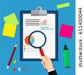financial audit concept.... | Shutterstock .eps vector #611400044