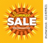 summer sale banner design... | Shutterstock .eps vector #611409821
