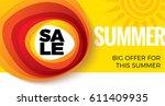 summer sale banner design... | Shutterstock .eps vector #611409935