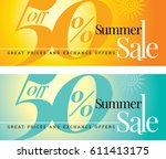 summer sale banner design... | Shutterstock .eps vector #611413175