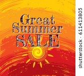 summer sale banner design... | Shutterstock .eps vector #611413805