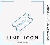 line icon ticket | Shutterstock .eps vector #611419805