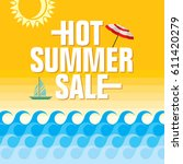 summer sale banner design... | Shutterstock .eps vector #611420279