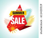 summer sale banner design... | Shutterstock .eps vector #611420519
