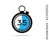 set of simple timers. vector... | Shutterstock .eps vector #611422421