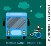 wheelchair accessible... | Shutterstock .eps vector #611424035