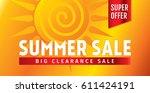 summer sale banner design... | Shutterstock .eps vector #611424191