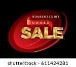 summer sale banner design... | Shutterstock .eps vector #611424281
