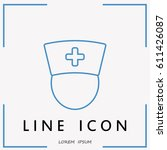 line icon   nurse   Shutterstock .eps vector #611426087
