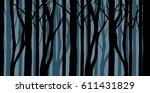Abstract Forest Silhouette...