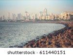 marine drive   quay mumbai ... | Shutterstock . vector #611440151