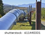 the trans alaska oil pipeline ... | Shutterstock . vector #611440331