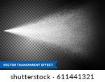 water spray mist of atomizer... | Shutterstock .eps vector #611441321