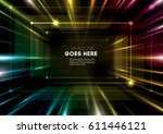 vector of modern abstract... | Shutterstock .eps vector #611446121