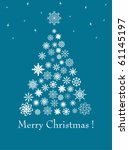 christmas fur tree from... | Shutterstock . vector #61145197