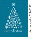 christmas fur tree from... | Shutterstock . vector #61145197