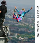 base-jumping - stock photo