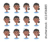 set of emotional character.... | Shutterstock .eps vector #611456885