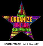 organize word cloud colorful... | Shutterstock .eps vector #611462339