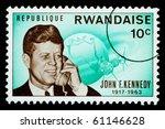 rwanda   circa 1970  a postage... | Shutterstock . vector #61146628