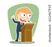 businessman giving speech | Shutterstock .eps vector #611467919