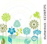 spring flowers   Shutterstock .eps vector #611469191