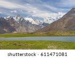 beautiful zanskar valley in... | Shutterstock . vector #611471081