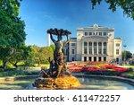 theatre of opera and ballet in...   Shutterstock . vector #611472257