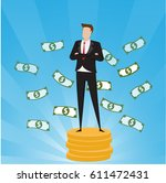 business characters.... | Shutterstock .eps vector #611472431