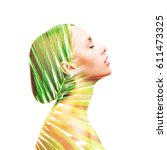 double exposure made of... | Shutterstock . vector #611473325