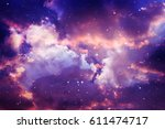 space of night sky with cloud... | Shutterstock . vector #611474717