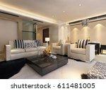 3d rendering home interior | Shutterstock . vector #611481005