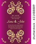 wedding card  invitation card... | Shutterstock .eps vector #611488889