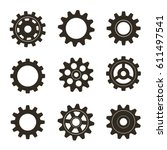 set of gears. vector... | Shutterstock .eps vector #611497541
