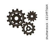 gears on a white background.... | Shutterstock .eps vector #611497664