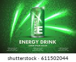 energy drink on sparkly and...   Shutterstock .eps vector #611502044