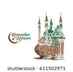 eid mubarak celebration ... | Shutterstock .eps vector #611502971
