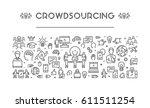 line web banner for... | Shutterstock . vector #611511254