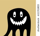 cute baby monster tag | Shutterstock .eps vector #61151803