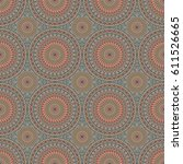 vector seamless pattern.... | Shutterstock .eps vector #611526665