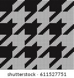 hounds tooth check seamless... | Shutterstock .eps vector #611527751