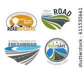 road construction icon set....   Shutterstock .eps vector #611530661