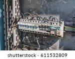 deteriorate circuit breaker  | Shutterstock . vector #611532809