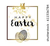 abstract holiday easter card... | Shutterstock .eps vector #611536784